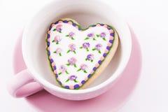 Biscotto in forma di cuore Immagini Stock Libere da Diritti