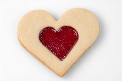 Biscotto a forma di del cuore immagine stock libera da diritti