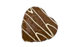 Biscotto a forma di del cuore fotografia stock libera da diritti