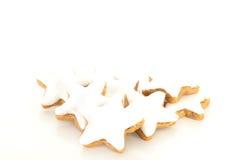 Biscotto a forma di stella della cannella Fotografia Stock Libera da Diritti
