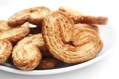 Biscotto olandese sulla zolla bianca Fotografia Stock Libera da Diritti