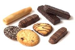 Biscotto ordinato isolato su fondo bianco fotografia stock libera da diritti