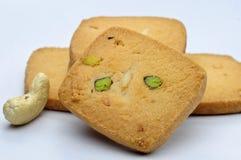 Biscotto pistacchio/dell'anacardio Fotografia Stock