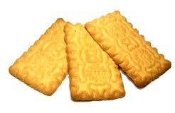 Biscotto quadrato isolato su bianco Fotografia Stock