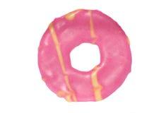 Biscotto rosa dell'anello del partito Fotografie Stock