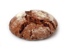 Biscotto rotondo del cioccolato isolato su bianco Fotografia Stock