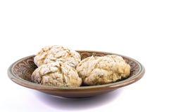 Biscotto saporito fresco sul piatto Fotografie Stock Libere da Diritti