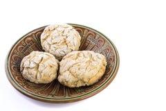 Biscotto saporito fresco sul piatto Immagini Stock