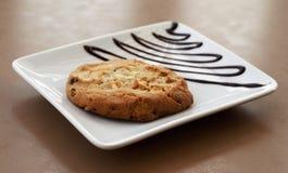 Biscotto servito su un piatto Fotografia Stock Libera da Diritti