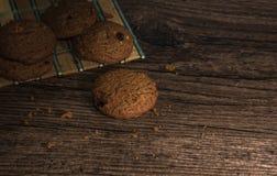 Biscotto su di legno Fotografia Stock