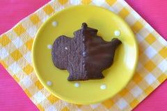 Biscotto su una zolla Fotografia Stock
