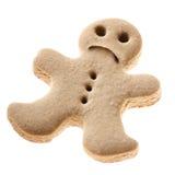 Biscotto triste dell'uomo di pan di zenzero Immagini Stock Libere da Diritti