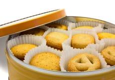 Biscotto in una casella Immagine Stock