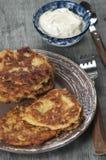 Biscuit à l'avoine de zuccini de moelle /courgette photographie stock