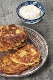 Biscuit à l'avoine de zuccini de moelle /courgette images stock