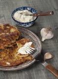 Biscuit à l'avoine de zuccini de moelle /courgette image stock