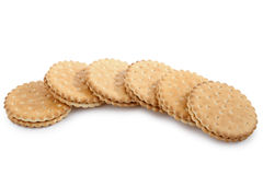 Biscuit. Isolated biscuit on white background Royalty Free Stock Photo