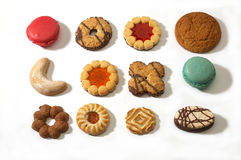 Biscuit. Set Biscuit isolated on white Stock Photos