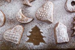 Biscuit absent d'un plat Image libre de droits