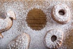 Biscuit absent d'un plat Photos libres de droits