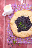 Biscuit with the addition of cornmeal. With blueberries royalty free stock photo