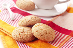 Biscuit with almond. Traditional homemade cookies of Sardinia Stock Images
