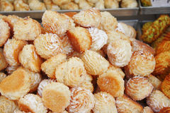 Biscuit with almond Royalty Free Stock Images