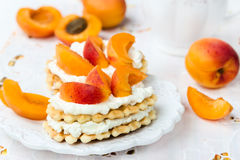 Biscuit with apricots Stock Image