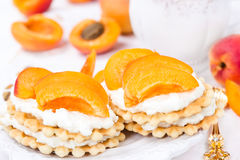 Biscuit with apricots Royalty Free Stock Image