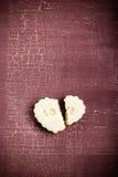 Biscuit avec amour d'impression Photographie stock