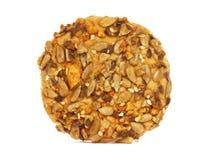 Biscuit avec des graines photographie stock libre de droits
