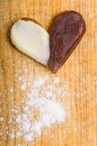 Biscuit avec la forme de coeur Images libres de droits