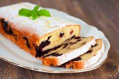Biscuit avec la myrtille images libres de droits