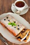 Biscuit avec la myrtille Photographie stock