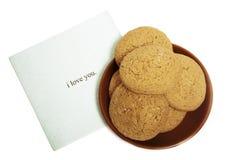 Biscuit avec la serviette Image libre de droits