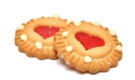Biscuit avec le centre en forme de coeur Photo libre de droits
