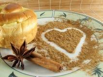 Biscuit avec le coeur Image libre de droits
