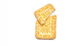 Biscuit avec le fond blanc d'isolement Photos libres de droits