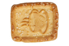Biscuit avec le symbole de café photos stock