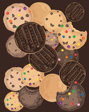 Biscuit background Royalty Free Stock Images