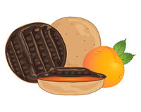 Biscuit background Stock Photo