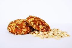 Biscuit. Bakery products. Oat cookies. Oat flakes. Cookies with raisins and five cereals. Useful breakfast. Proper nutrition. stock images