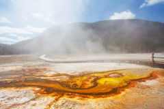 Biscuit basin Yellowstone National park Stock Image