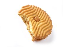Biscuit - beurre d'arachide 1 (chemin compris) Photographie stock libre de droits