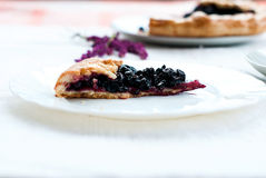Biscuit with black currants and a cup of coffee Stock Photo