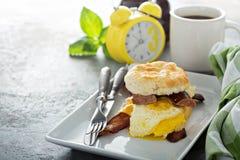 Biscuit breakfast sandwich Stock Photography