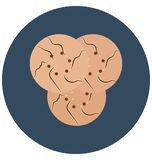 biscuit, brownie Isolated Color Vector Icon that can be easily modified or edit. stock photos