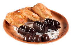 Biscuit cake candy chocolate Stock Photo