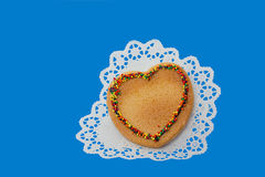 Biscuit cake heart Stock Photo