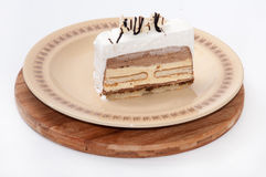 Biscuit cake served on a plate Stock Photography